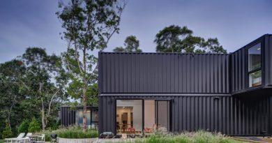 Μια εξοχική κατοικία φτιαγμένη από κοντέινερ