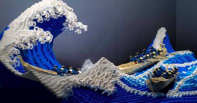 Το «Μεγάλο Κύμα» του Χοκουσάι σε Lego